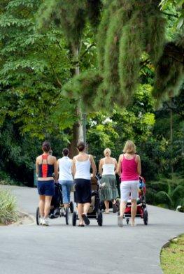 Jogging und Walking mit dem Kinderwagen