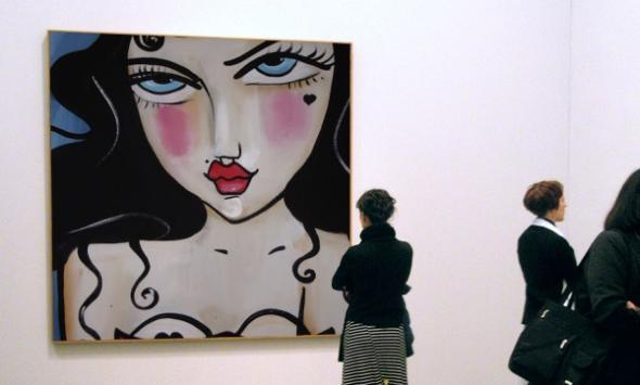 Johanna Wagner's Bild in einer Galerieausstellung.