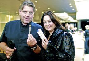 Jonnie Boer auf einer Foodmesse in Holland