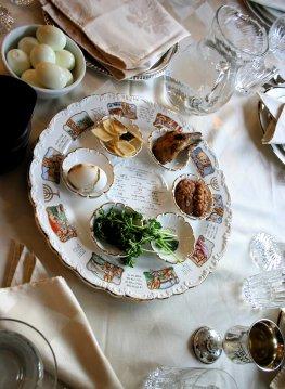 Jüdische Küche - Seder Platte