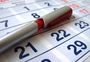 Kalender: Der Urlaub ist vorbei, und die Arbeit beginnt