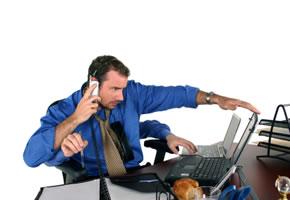 Kommunikationsstress: Multitasking im Büro