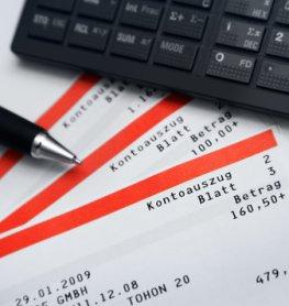 Kontoauszug: Schulden - Das Konto ist im Minus