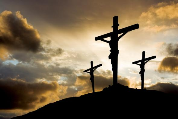 Jesus Christus am Kreuz.