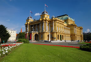 Kroatisches National Theater in Zagreb
