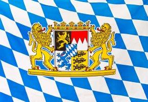 Landesflagge: Freistaat Bayern