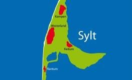 Die Insel Sylt: Landkarte von der Insel Sylt