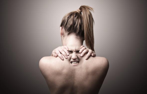 Rückenschmerzen ausgelöst durch eine larvierte Depression.