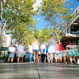 Las Rambles - Spaziergang durch die Fußgängerzonen