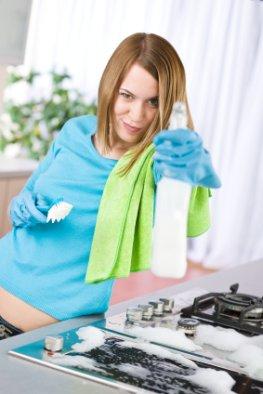 Leicht Abnehmen mit Hausarbeit - Reinigung der Küche