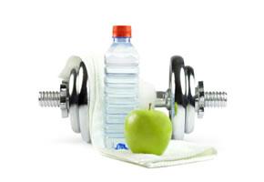 Leichtes Krafttraining und Ernährung