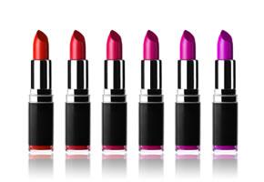 Lippenstifte in verschiedenen Farben
