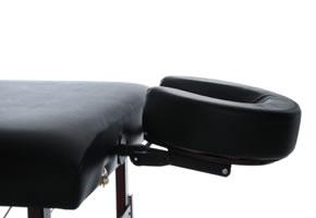 Massageliege: das Kopfteil