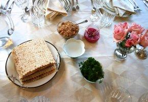 Matza Brot - Seder Platte