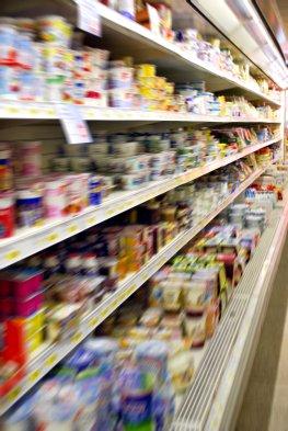 Milchprodukte - Butter und Magarine im Supermarkt