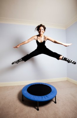 Minitrampolin - Abnehmen durch Fitness
