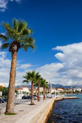 Kroatien-Mitteldalmatien: die Stadt Split an der Adria