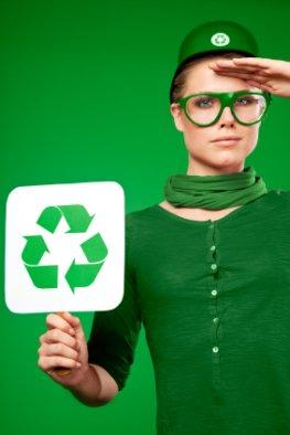 Nachhaltigkeit: Grüne Soldatin - Recycling für den Umweltschutz