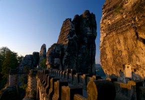 Nationalparks: Basteibrücke in der sächsischen Schweiz