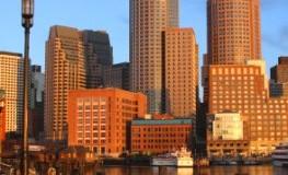 Neu-England - Boston von der Wasserseite in der Abendsonne