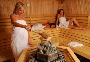 Neuer Aufguss in der Sauna