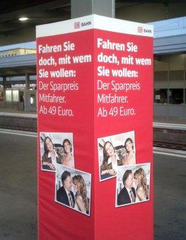 Bahnwerbung - neues Fahrkartenangebot der Deutschen Bahn