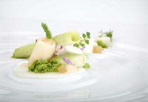 Aus Peter Goossens Gourmetküche - Nordseekrabben mit Ruccola, Dashi und Granny Smith