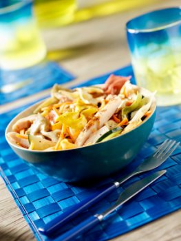 Grillparty: frischer Nudelsalat