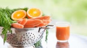 Karotten und Orangen - Obst und Gemüse täglich zu sich nehmen