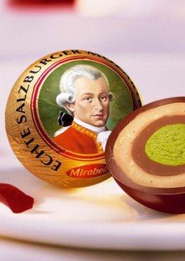 Original Mozartkugeln - Vorbild war der Komponist Wolfgang Amadeus Mozart