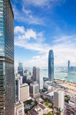 Panoramasicht von Hong Kong