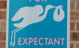 Parkplätze für schwangere Frauen in den USA
