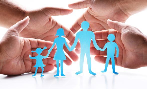 Patchworkfamilie - Jeder Elternteil bringt jeweils ein eigenes Kind in die Beziehung mit.