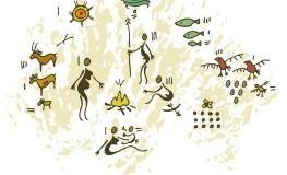 Prähistorisches Steinzeitleben - jagen und schnell essen