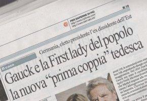 Pressestimme aus Italien - Gauck und die volksnahe First Lady in Jeans