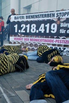 Protestaktion von Avaaz gegen das Bienensterben