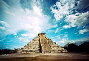 Pyramide Chichen Itza in Yucatán