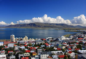 Raykjavik, die Hauptstadt von Island