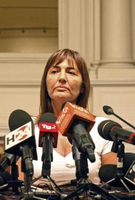 Renata Polverini bei einem Pressetermin