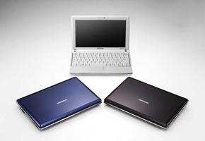 Der Netbook Samsung NC10 in 3 verschiedenen Farben