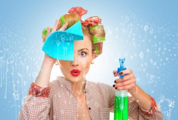 Motivationshilfe: Fenster putzen ist eine anstrengende Aufgabe, mit der richtigen motivation - geht es ganz leicht.