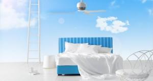 Gut schlafen kann man in Schlafzimmern mit Wandfarbe Blau.
