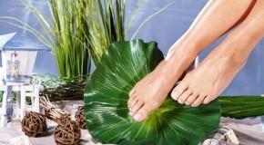 Schöne Füße nach einem Fußbad
