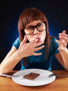 Schokolade essen macht schlank