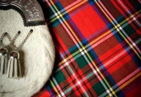 Schottische Kultur - der Kilt und Sporran