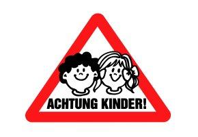 """Schulwegsicherheit: Verkehrsschild """"Achtung Kinder"""""""