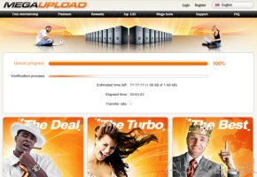 Screenshot von Megaupload