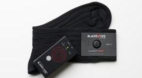 Socken-Sorter mit Socken die einen RFID-Chip tragen