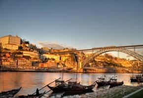 Sonnenaufgang in Porto
