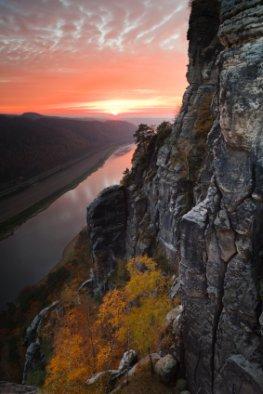Sonnenuntergang - Bastei im Elbsandsteingebirge